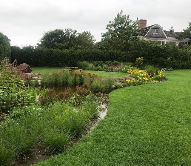At Gardeneering, we love solving problems while simultaneously making them beautiful.  Early this year, a client approached us regarding drainage issues. Here is the rain garden we designed and installed to solve those issues.  Swipe to see pictures of a recent heavy rain; the garden draining; and a site visit from early this spring.  Let us know what you think!
