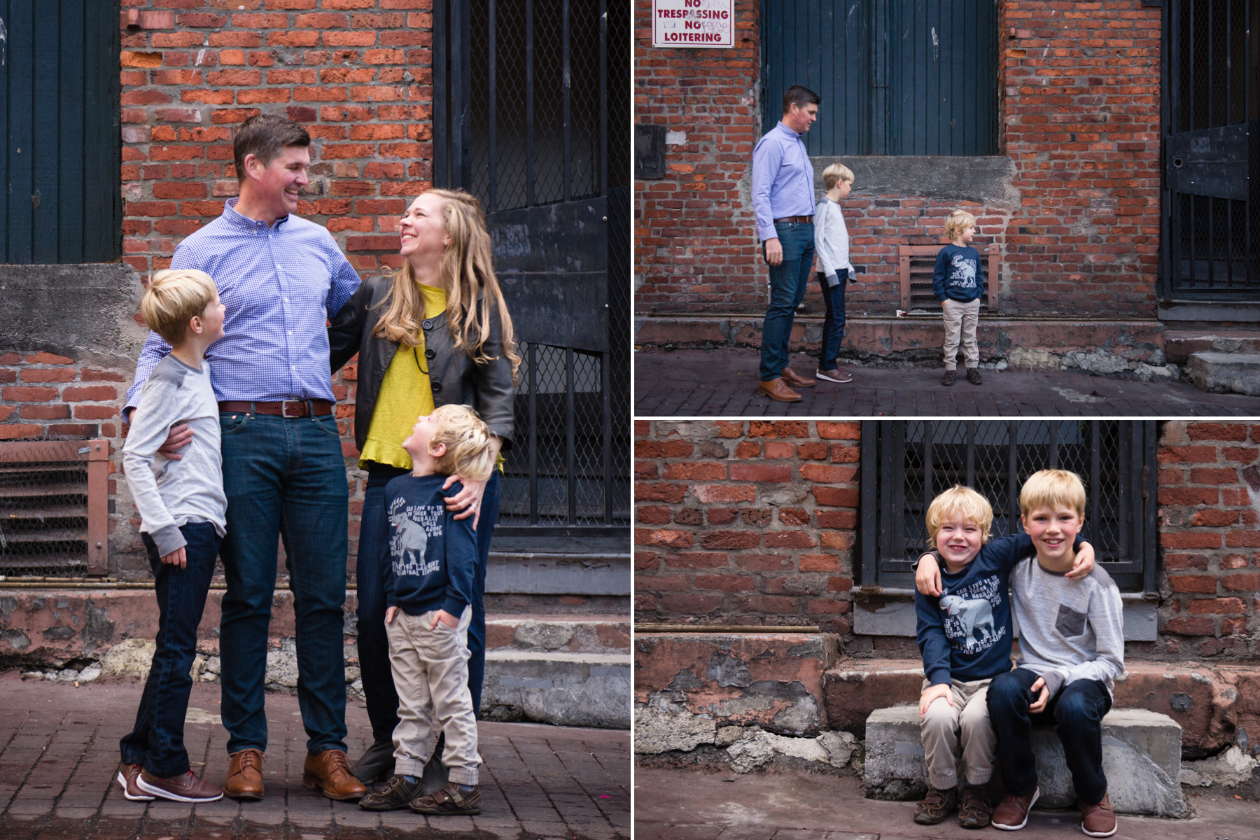 Soley Family Photography Session Pioneer Square Seattle