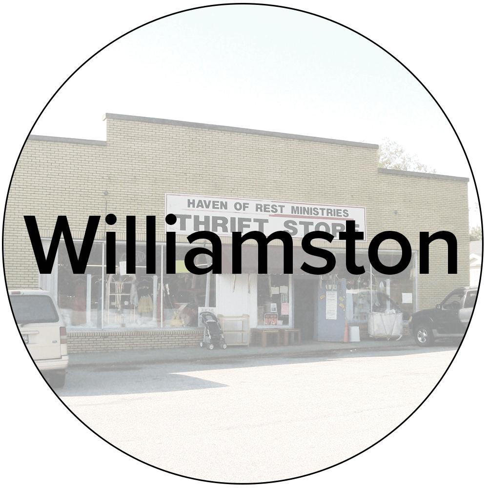 Williamston Store - 559 W. Main St. Williamston, SC 29697864-847-9721Mon-Sat:9AM-5PM