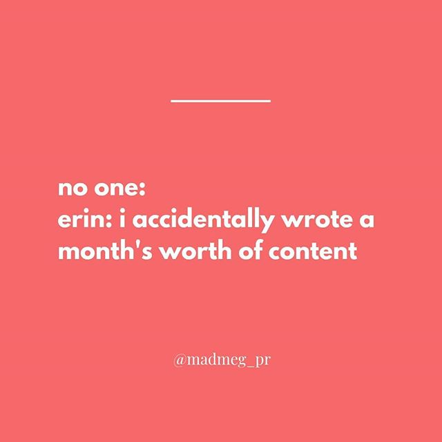 What do you meme you accidentally wrote a months worth of content?! Our social game is no joke. 🤷😏