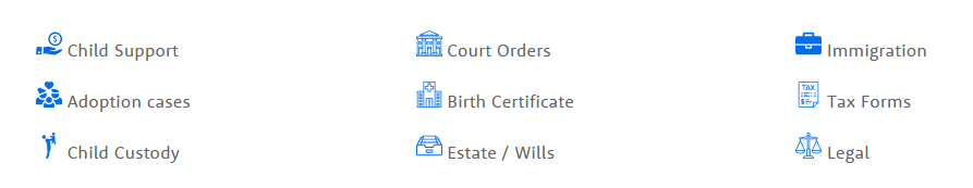 Establishing Paternity, Child Support, Adoption, Child Custody, Court Orders, adding a name to a Birth Certificate are common reasons for a Legal DNA test