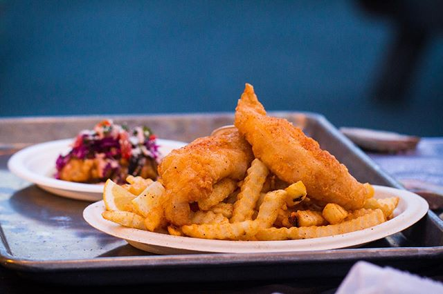 Did you miss us yesterday?! We'll be at @harmonicbrewing today from 2:00 until 8:00 (check our story before making a long trip in case we sell out) . . . .. Did you know that fish and chips played a part in the D-Day Landings – British soldiers identified each other by crying out 'fish' and waiting for the response of 'chips' 🧐🤷♂️