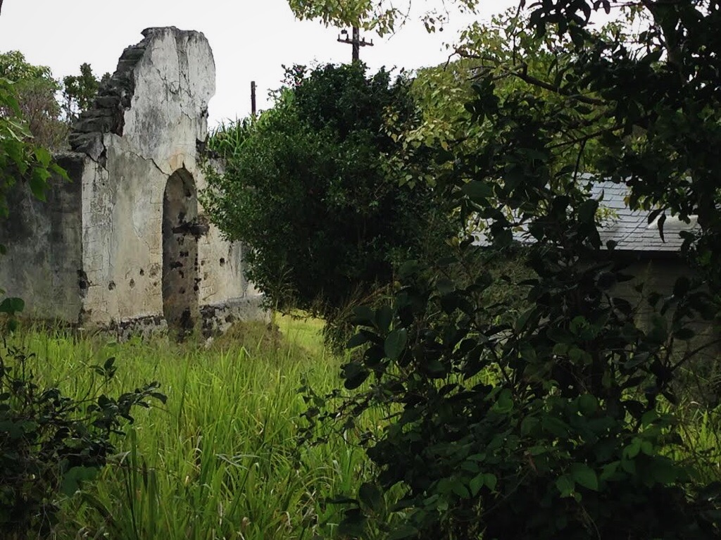 The ruins of a church that was built in the 1800's