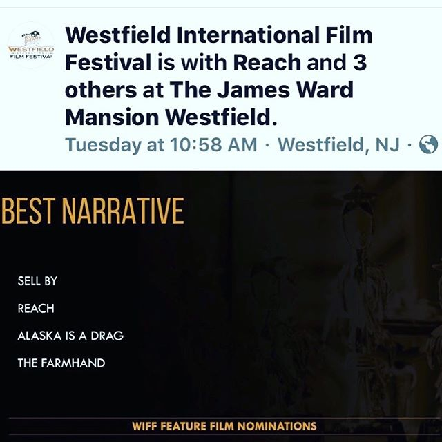 Excited thrilled honored grateful to be screening and nominated October 6 @westfield_intl_filmfestival