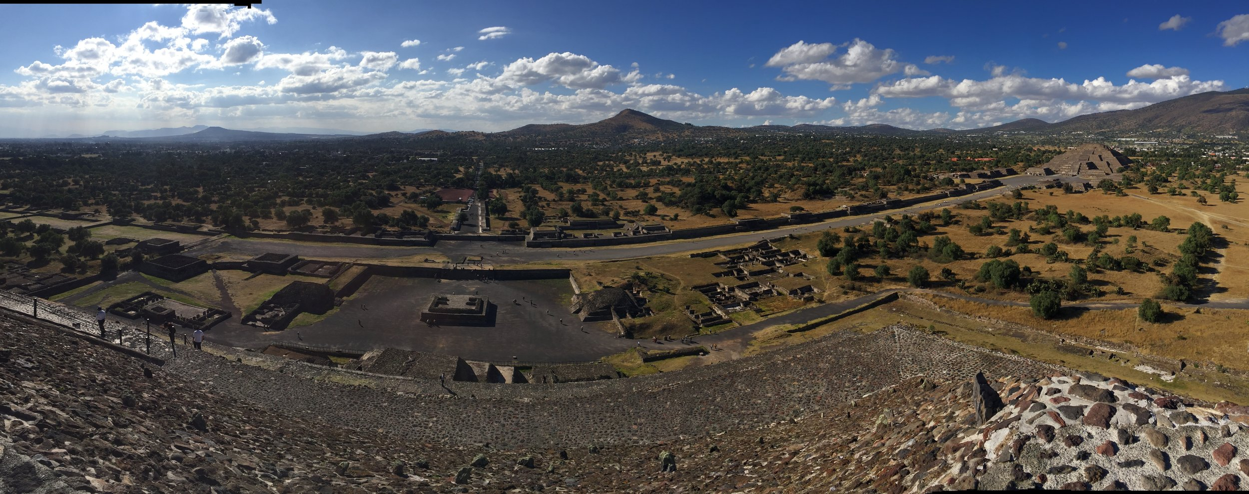 View from on top of the pyramid