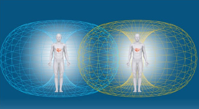 Two People's Energy Fields Connecting