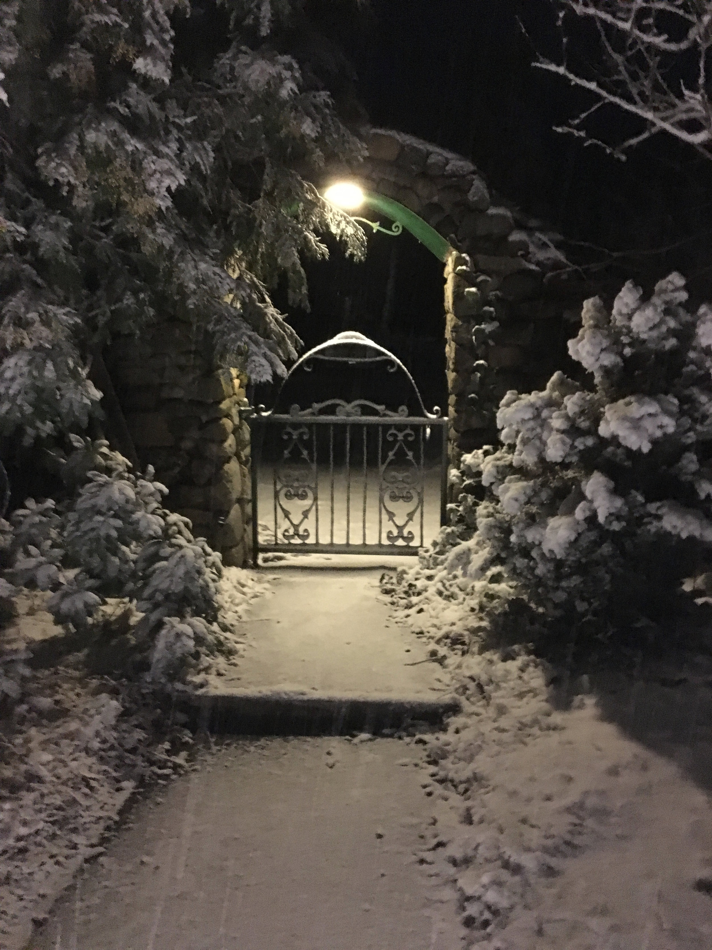 Walk Way Over Arch in Snow