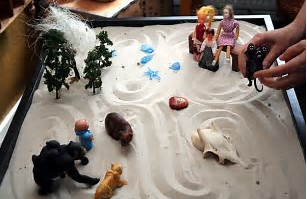 The Sand Tray allows children to explore their grief story.