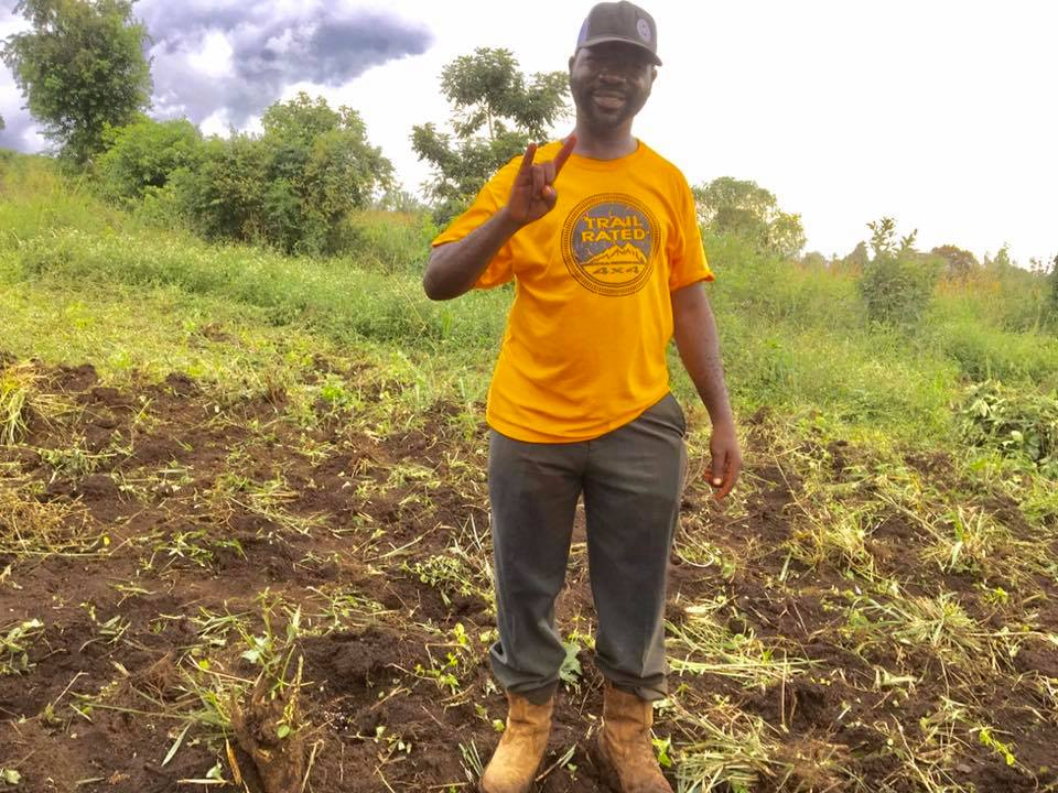 Harvest season is an extremely important time of year in Uganda, and here's Pastor Raymond working hard in the fields.