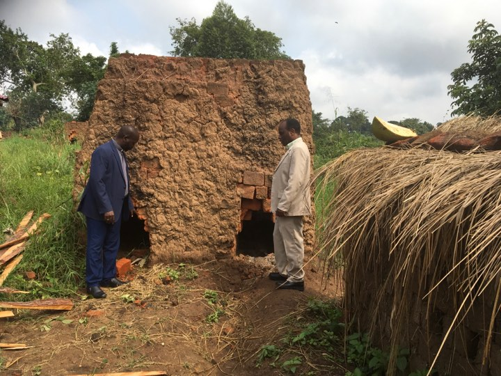 Most bricks used in construction are made by hand in rural villages of Uganda. Here's a photo of Pastor Raymond checking out the brick making facility & process.