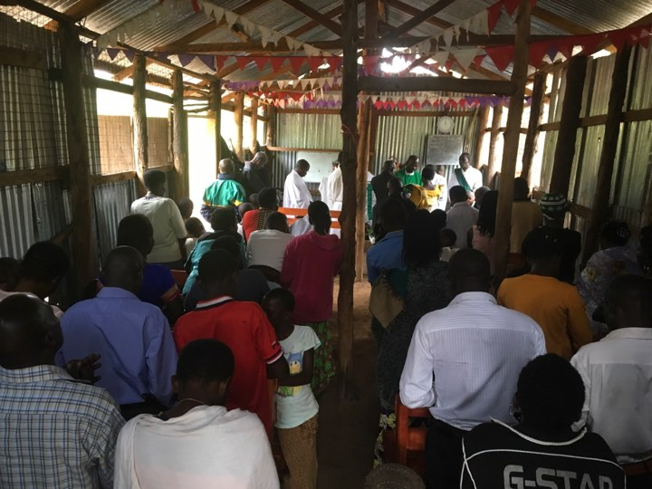Here's a glimpse of a church service taking place in one of the main Masindi region congregations.