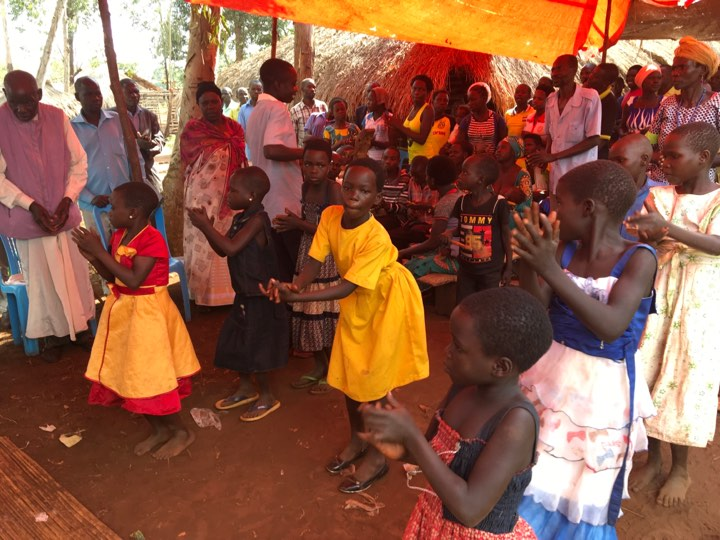 Here's some joyous dancing taking place during worship in one of the newly planted congregations.