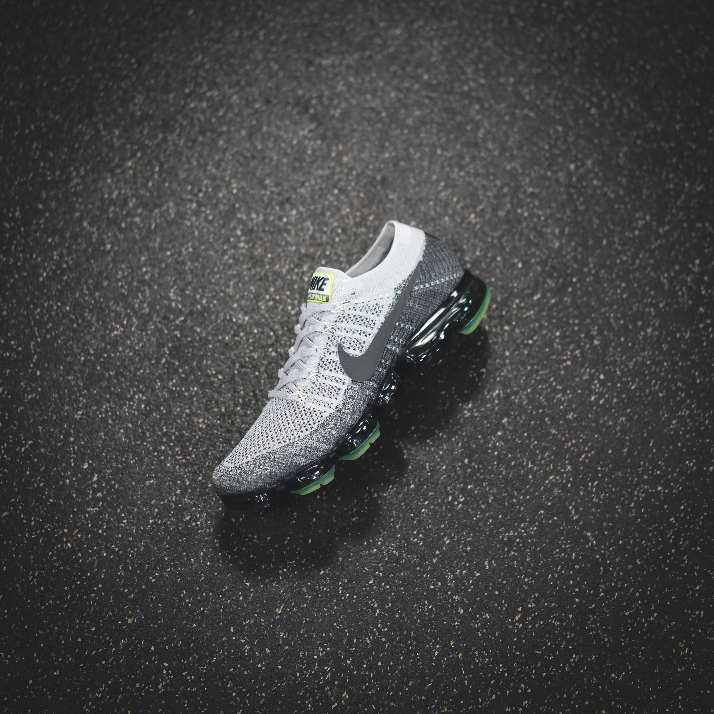 """Vapormax Flyknit featuring the """"Neon"""" colour from the Air Max 95."""