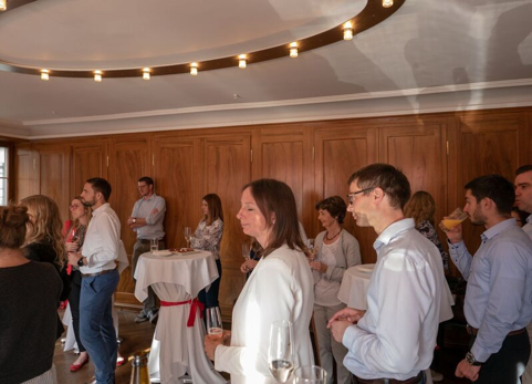 Guests sipping on wine supplied by Weinbau Trutmann