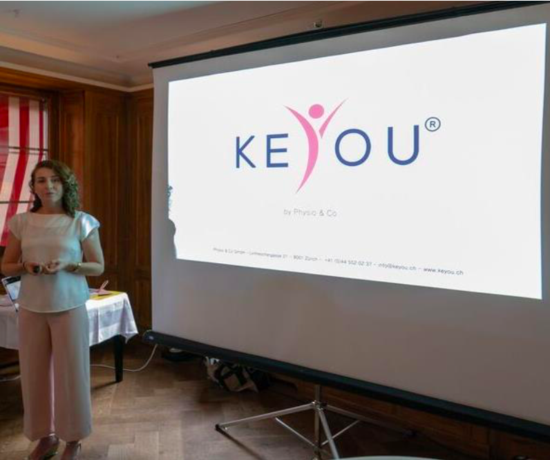 Áine Ní Mhuiris introducing keYou