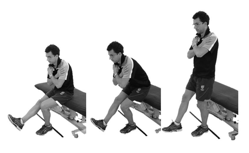 3. Single leg squat strength