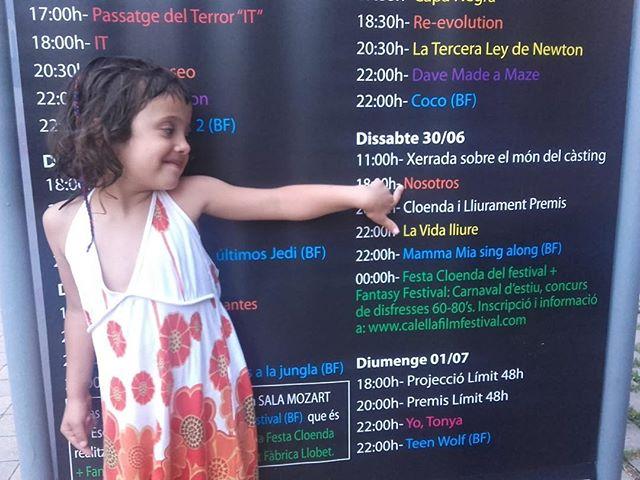 Nuestra embajadora Lola ya está en el @calellafilmfestival ❤️ #NosotrosFilm #CalellaFilmFestival