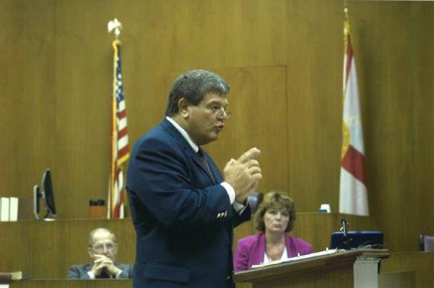 Picture of Roger J. Dodd in the courtroom.
