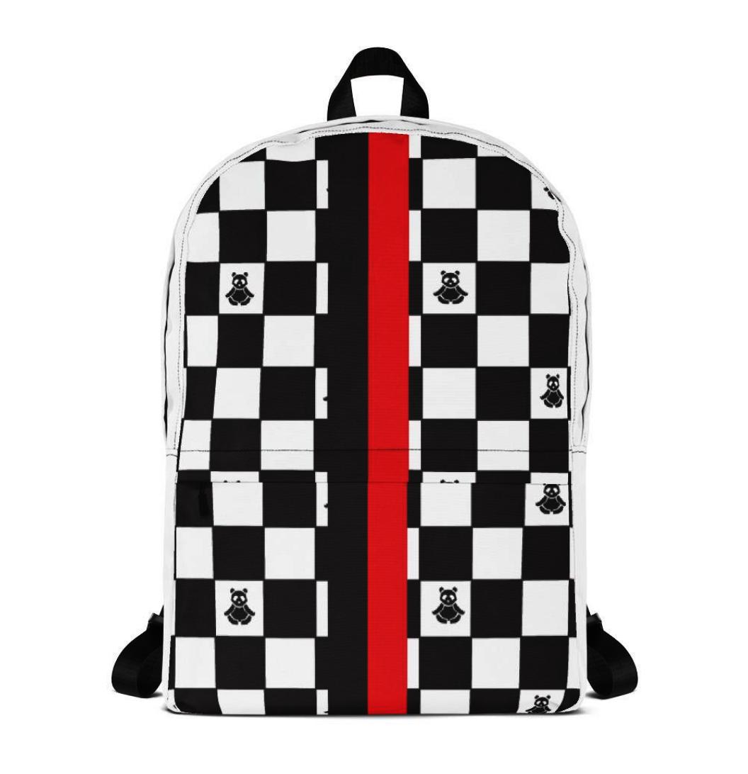 Panda Checker Print Collection - Panda Checker Print Backpack