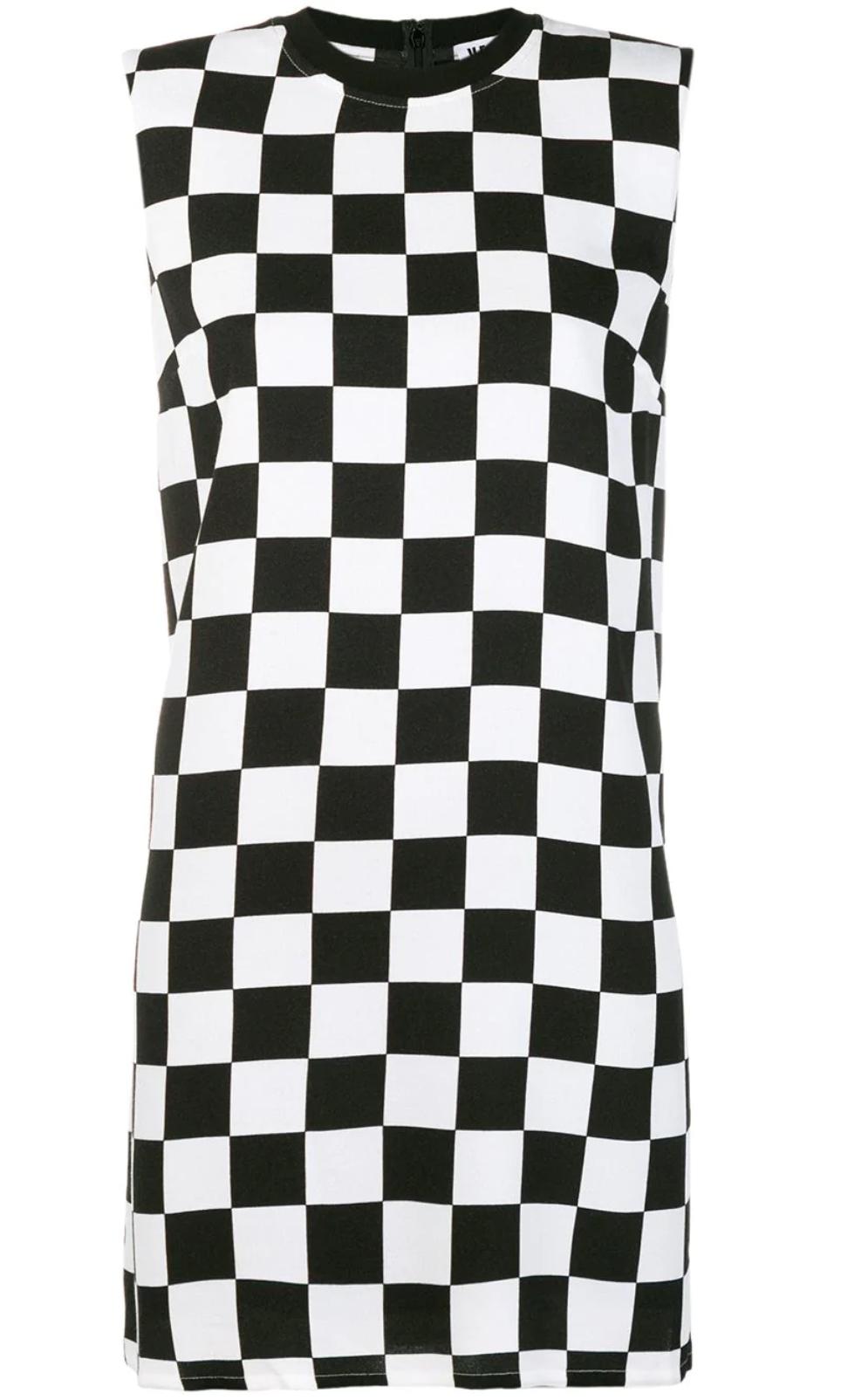 Flared Check Dress - Versus