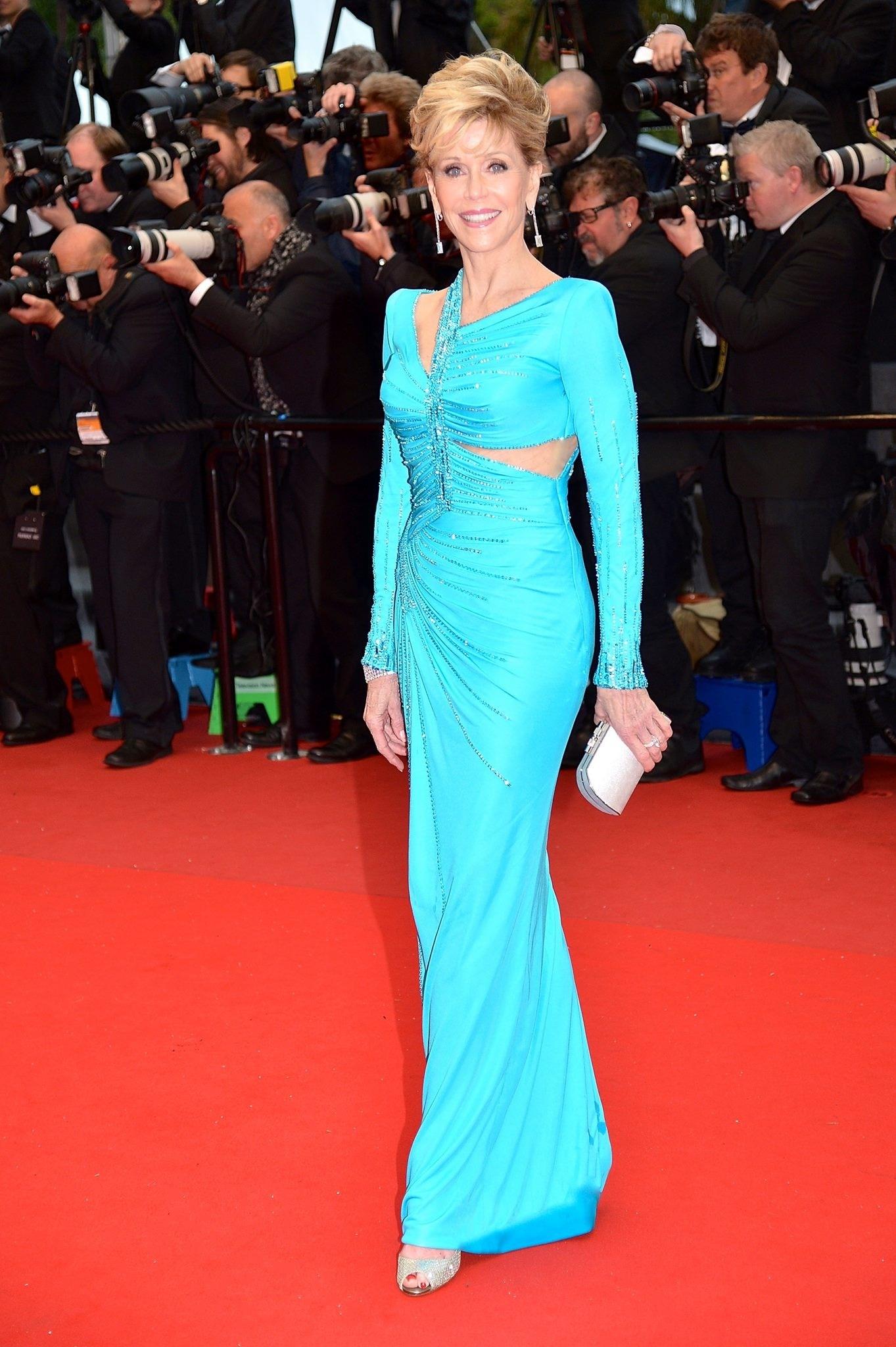 Jane Fonda - Cannes 2013Atelier Versace DressChopard JewelryJimmy Choo shoes