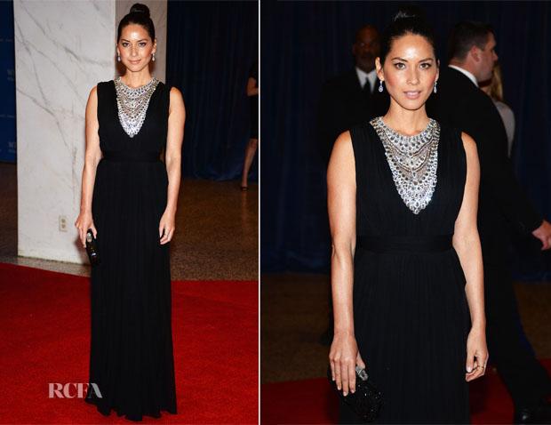 Olivia Munn at the White House Correspondents Dinner - Dress Marchesa