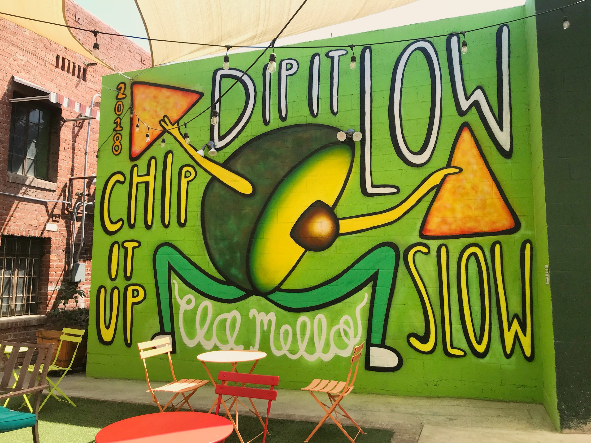 dip it low,chip it up slow - With Love Cafe & Market, Los Angeles2018