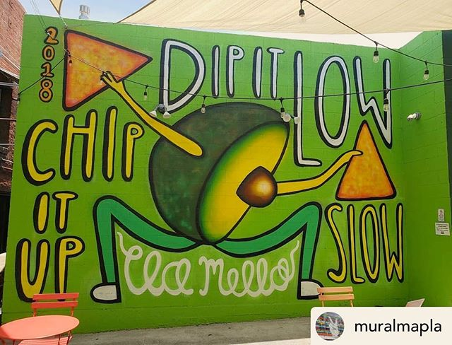 "Thanks @muralmapla for adding my @christinamilian inspired piece, ""Dip it low, chip it up slow"" to LA's mural map. If you'd like to check it out, you now can find it on the map 🌎 --  MuralMapLA.com . . . . . . . . . . . . . . . . . . . . . . . . . . . . . . . . . . . . . #muralmapla #mural #muralart #urbanwalls #urbanart #streetart #artist #art_spotlight #paintthechange #paint #graffiti #streetarteverywhere #streets #losangeles #streetsofla #neighborhood #community #publicspace #publicart #artsforla #beautifyearth #worldtour #artaroundtheworld #publicspace #losangeles #lastreetart #travel #getoutside #wanderlust"