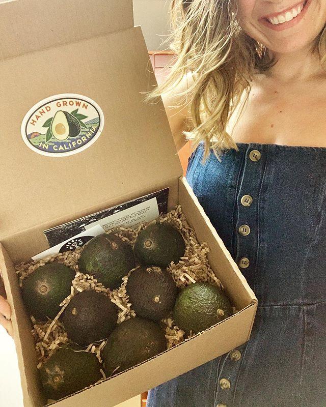 Thank you @jason_mraz & @mrazfamilyfarms for my box of California dragon eggs🥚💚🐉Feelin' like the Mother of 'Cados 🧝🏼♀️🥑🥑🥑 . . . . . . . . . . . . . . . . . #hassavocados #avocados #losangeles #jasonmraz #mrazfamilyfarms #got #gameofthrones #motherofdragons