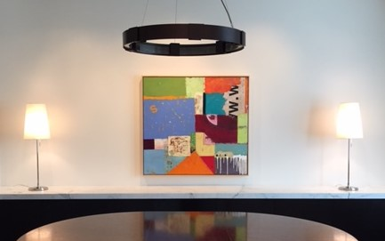 Art by bibby gignilliat placed in a home