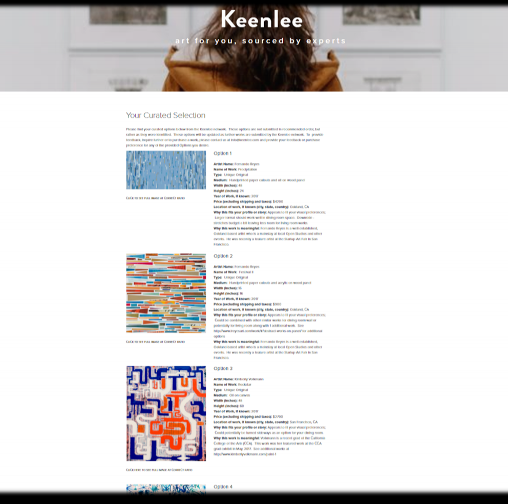 Step 3  REVIEW YOUR PERSONALIZED ART PORTFOLIO ONLINE WITH OR WITHOUT YOUR CLIENT. THEY BUY ONLY WHAT THEY LOVE.
