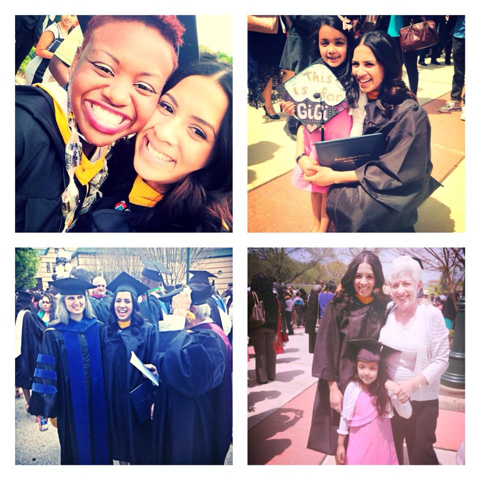 Loren at her Graduation day at Washington Adventist University on May 4, 2014.