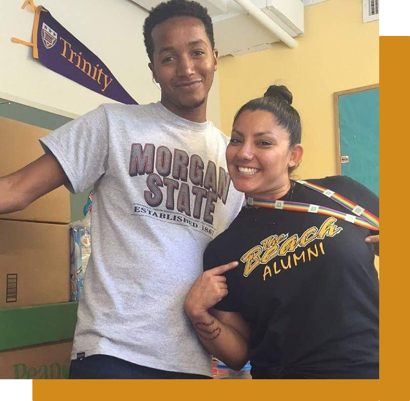 As part of the College and Career Readiness Program, our advisors encourage staff and teachers to participate in #CollegeWearWednesdays and wear their college t-shirt to promote a college-bound environment at The Next Step PCS.