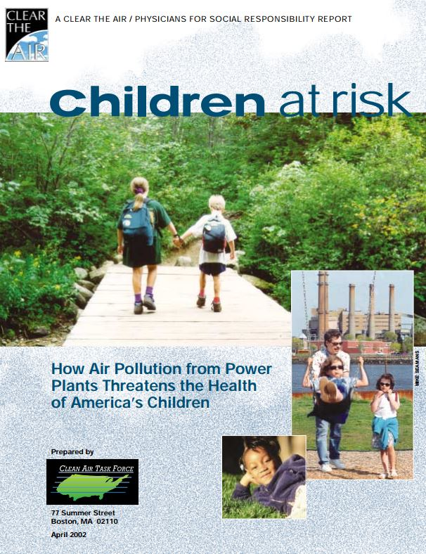 Children at Risk: How Air Pollution from Power Plants Threatens the Health of America's Children - A fact sheet on the impact of air pollution from power plants on health.