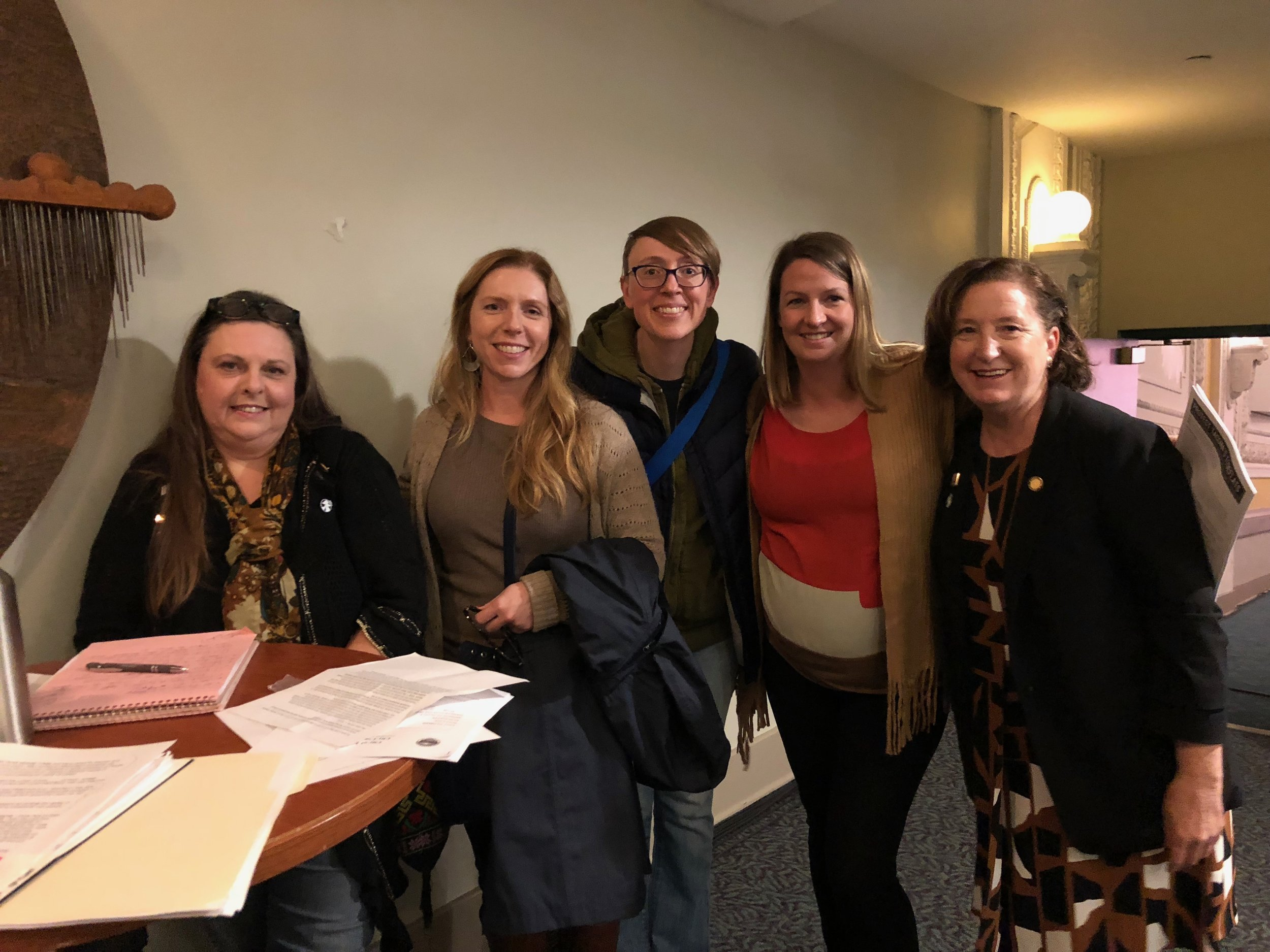 Nurses and public health professionals testify in support of regulations limiting new fossil fuel projects in Tacoma in November, 2018.