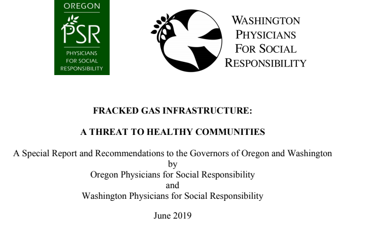 Oregon and Washington PSR Release New Report on Health and Fracked Gas - Read the report.