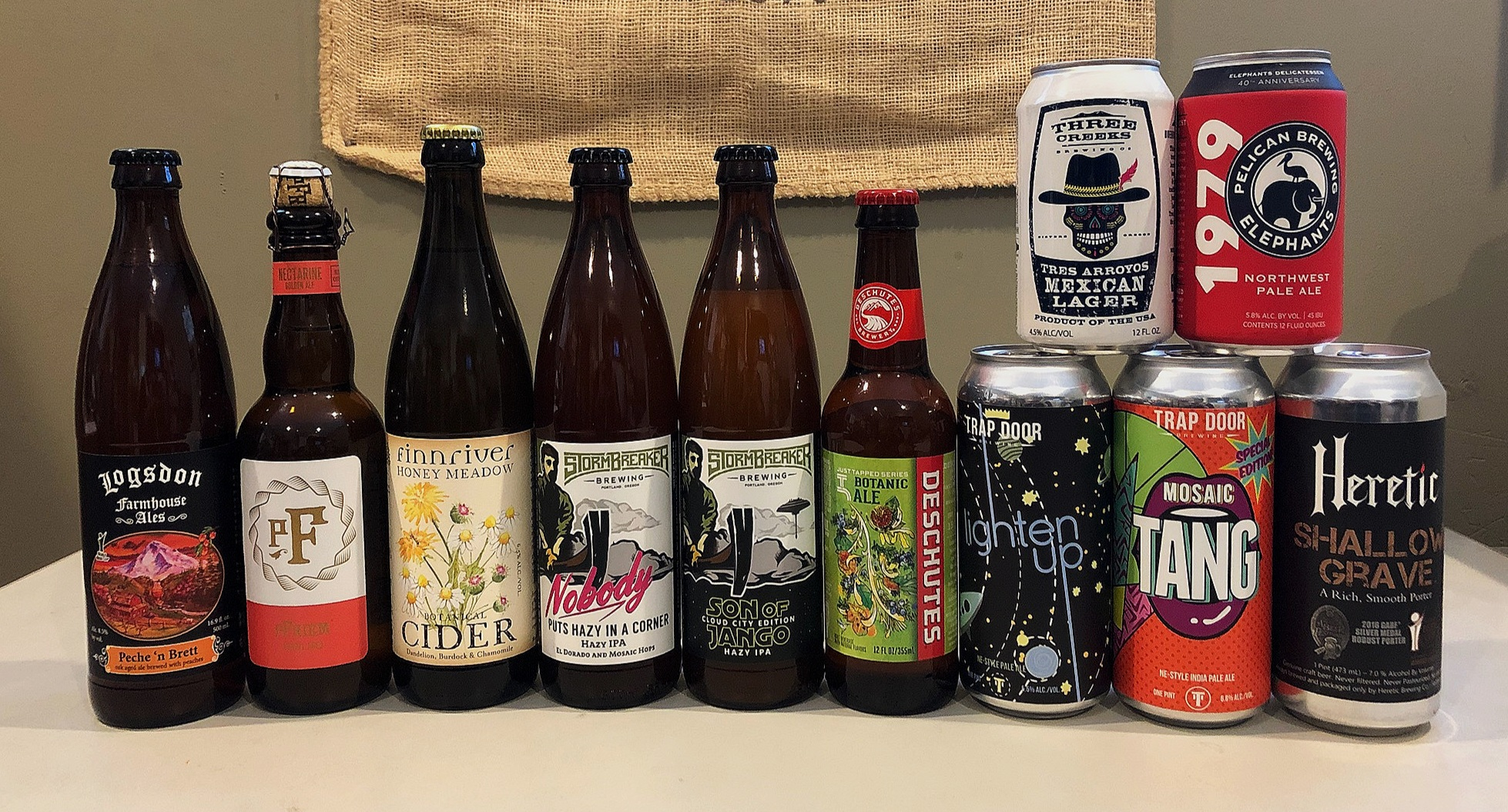 Check out these links to all of the breweries pictured here:   Logsdon  -  pFriem  -  Finnriver  -  Stormbreaker  -  Deschutes  -  Trap Door  -  Heretic  -  Three Creeks  -  Pelican