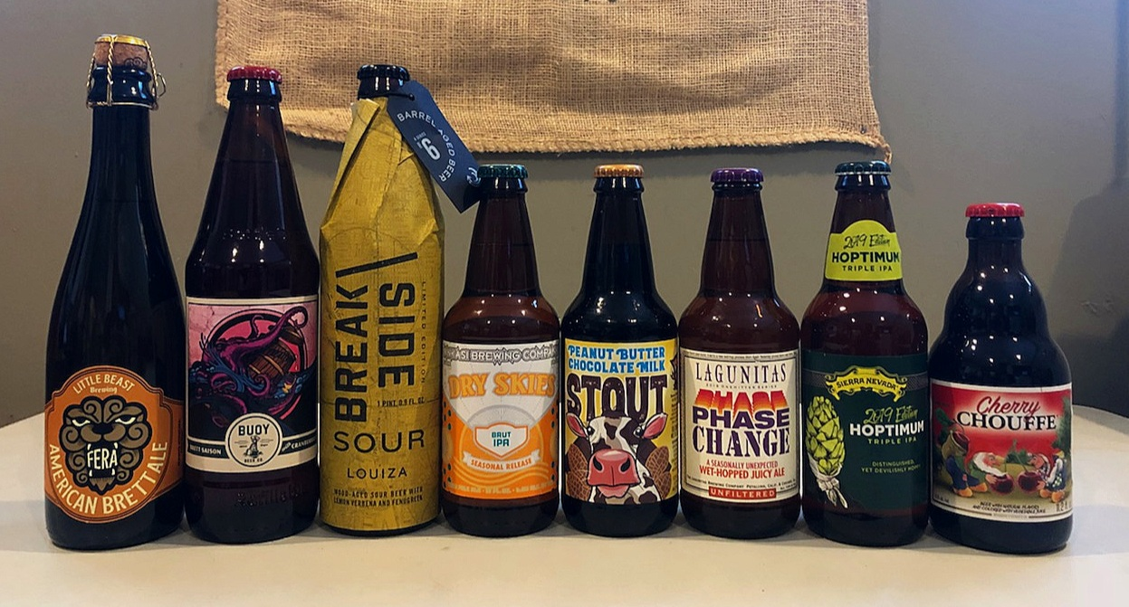 CLICK ON THE LINKS FOR MORE INFO:    Little Beast  -  Buoy  -  Breakside  -  Ninkasi  -  Lost Coast  -  Lagunitas  -  Sierra Nevada  -  La Chouffe