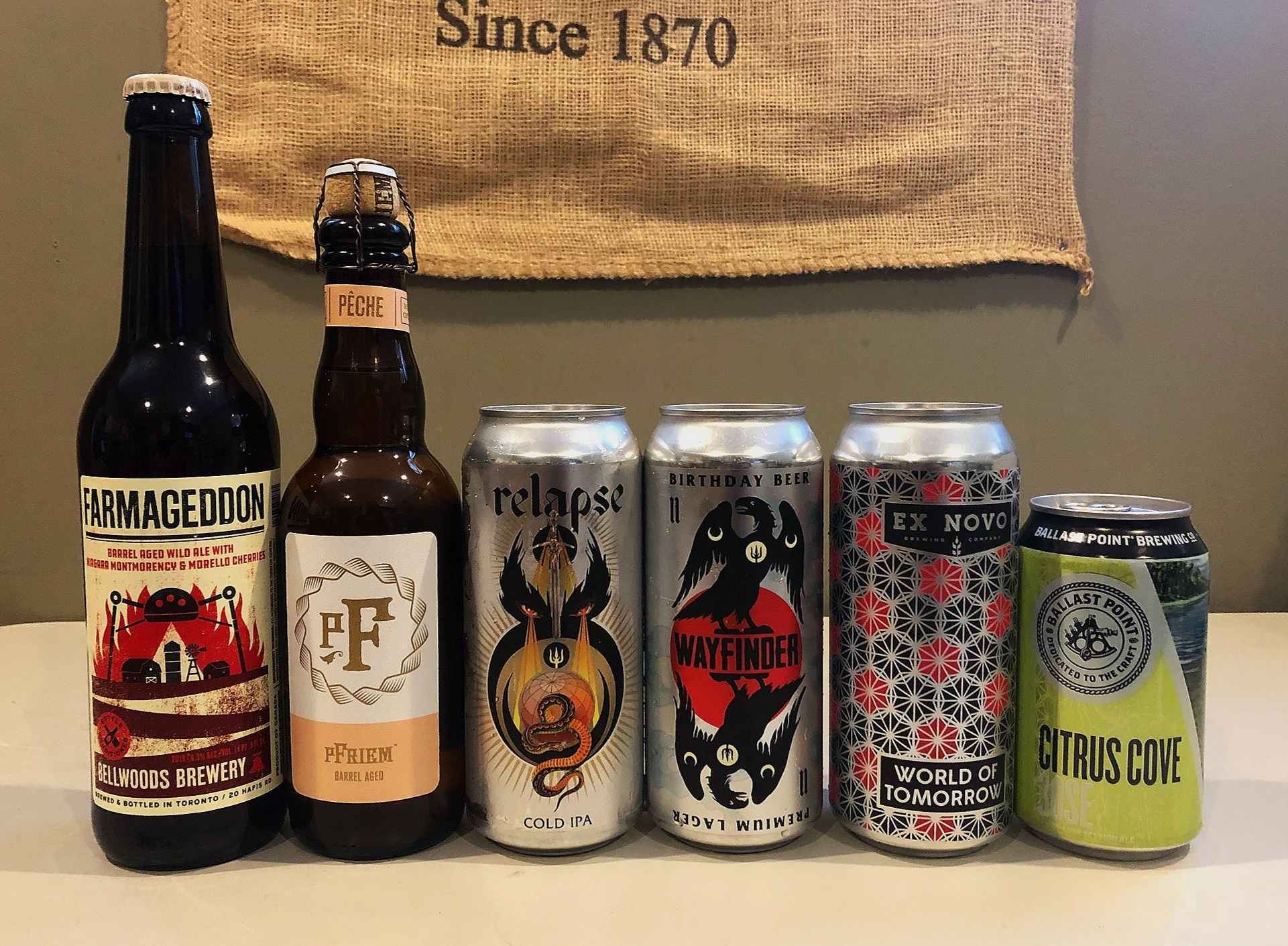 CLICK ON THE LINKS HERE TO FIND OUT MORE ABOUT THESE FEATURED BREWERIES:    Bellwoods   -   pFriem   -   Wayfinder   -   Ex Novo   -   Ballast Point
