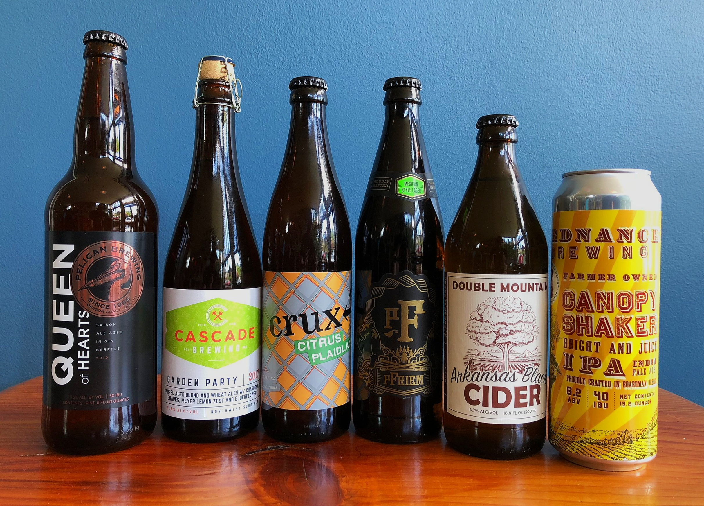 CLICK ON THESE LINKS TO LEARN MORE ABOUT THESE BEERS:    Pelican  -  Cascade  -  Crux  -  pFriem  -  Double Mountain  -  Ordnance