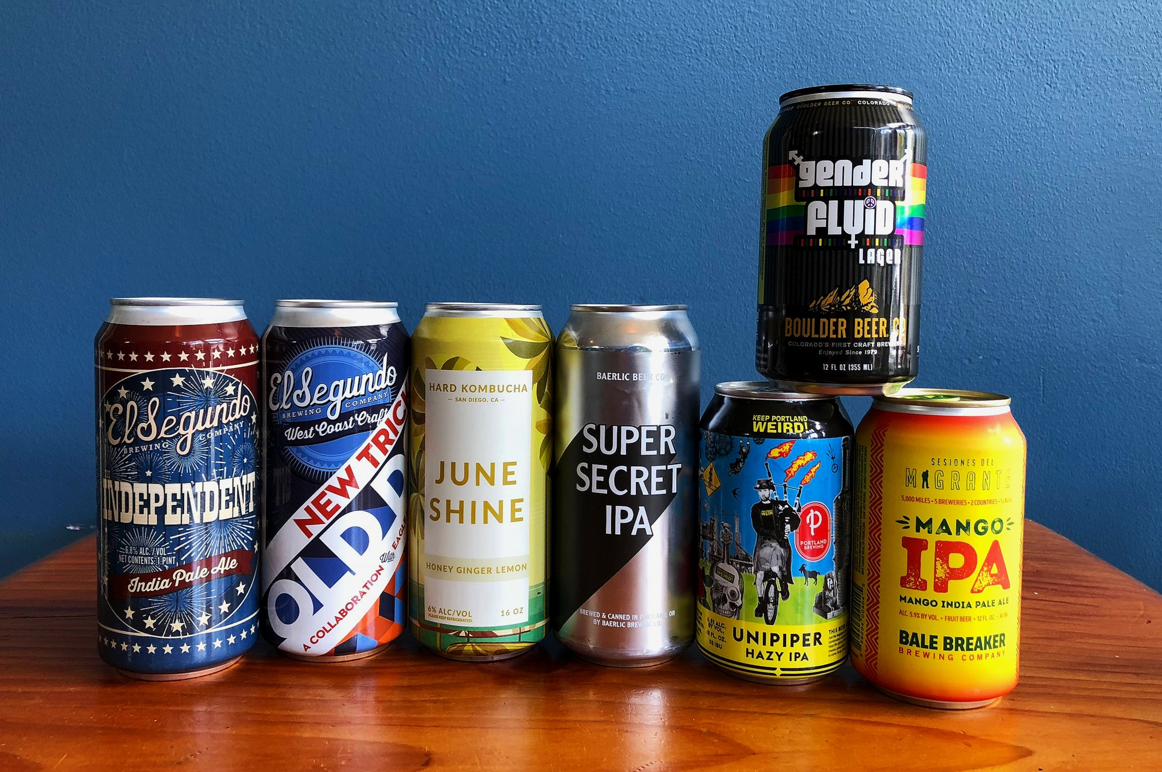 CLICK ON THESE LINKS TO LEARN MORE ABOUT THESE BEERS:    El Segundo  -  June Shine  -  Baerlic  -  Portland Brewing  -  Boulder  -  Bale Breaker