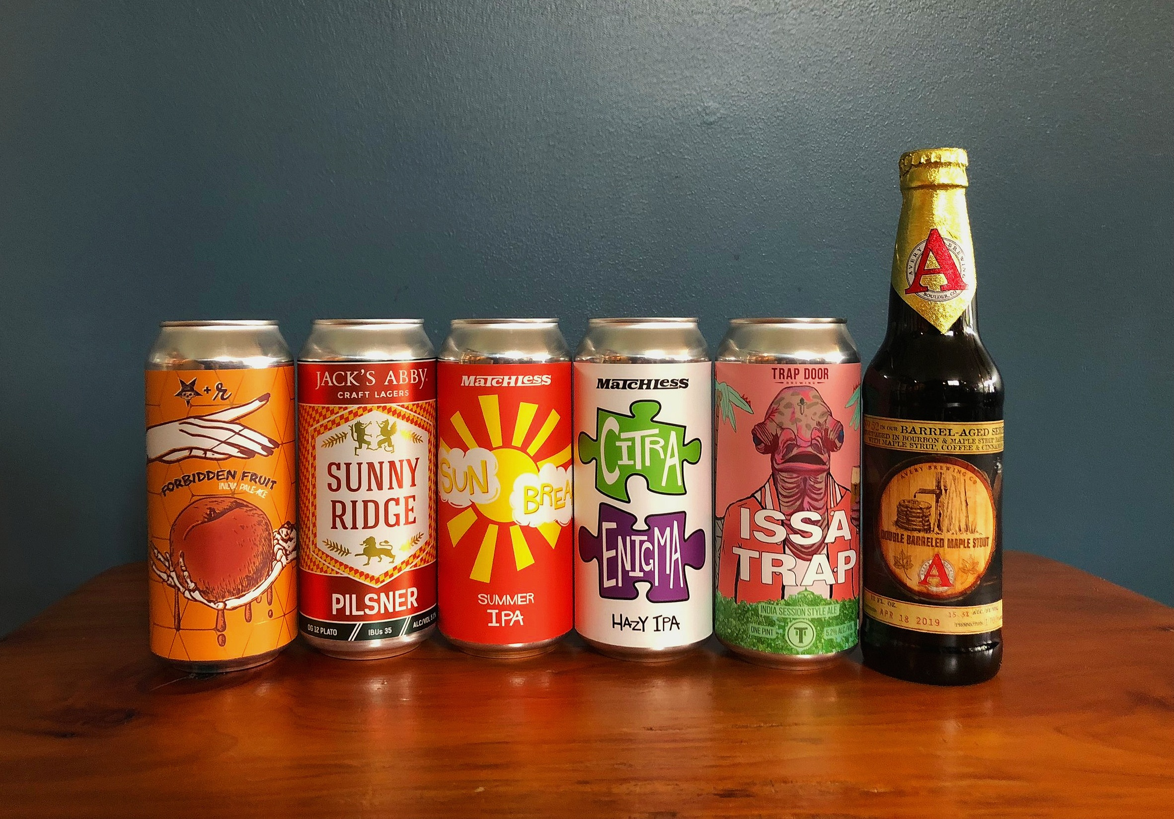 CLICK ON THESE LINKS TO FIND OUT MORE ABOUT THE BREWERIES FEATURED HERE:    Grains Of Wrath   -   Jack's Abby   -   Matchless   -   Trap Door   -   Avery