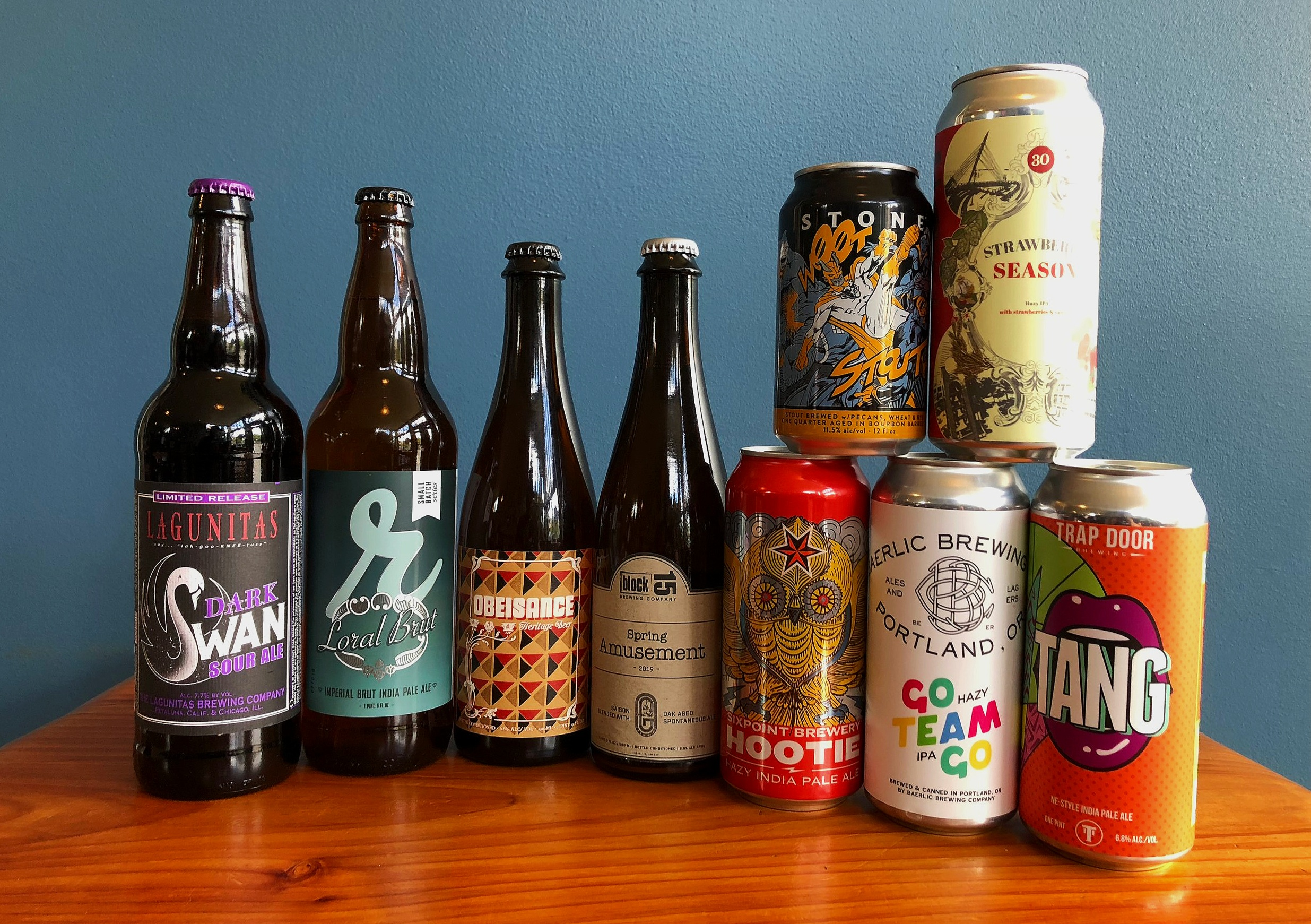 CLICK ON THESE LINKS TO FIND OUT MORE ABOUT THE FEATURED BEERS HERE:     Lagunitas   -   Reuben's   -   Von Ebert   -   Block 15   -   Sixpoint   -   Stone   -   Baerlic   -   Trap Door