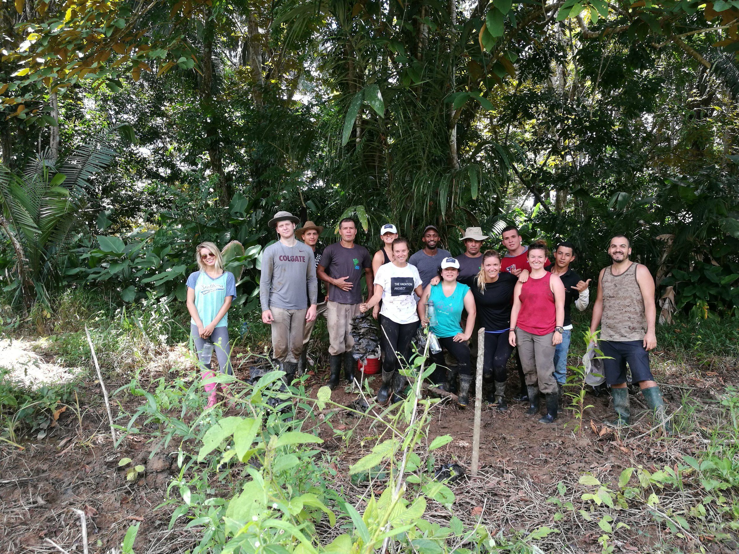Team TVP after helping Osa Conservation replant the rainforest
