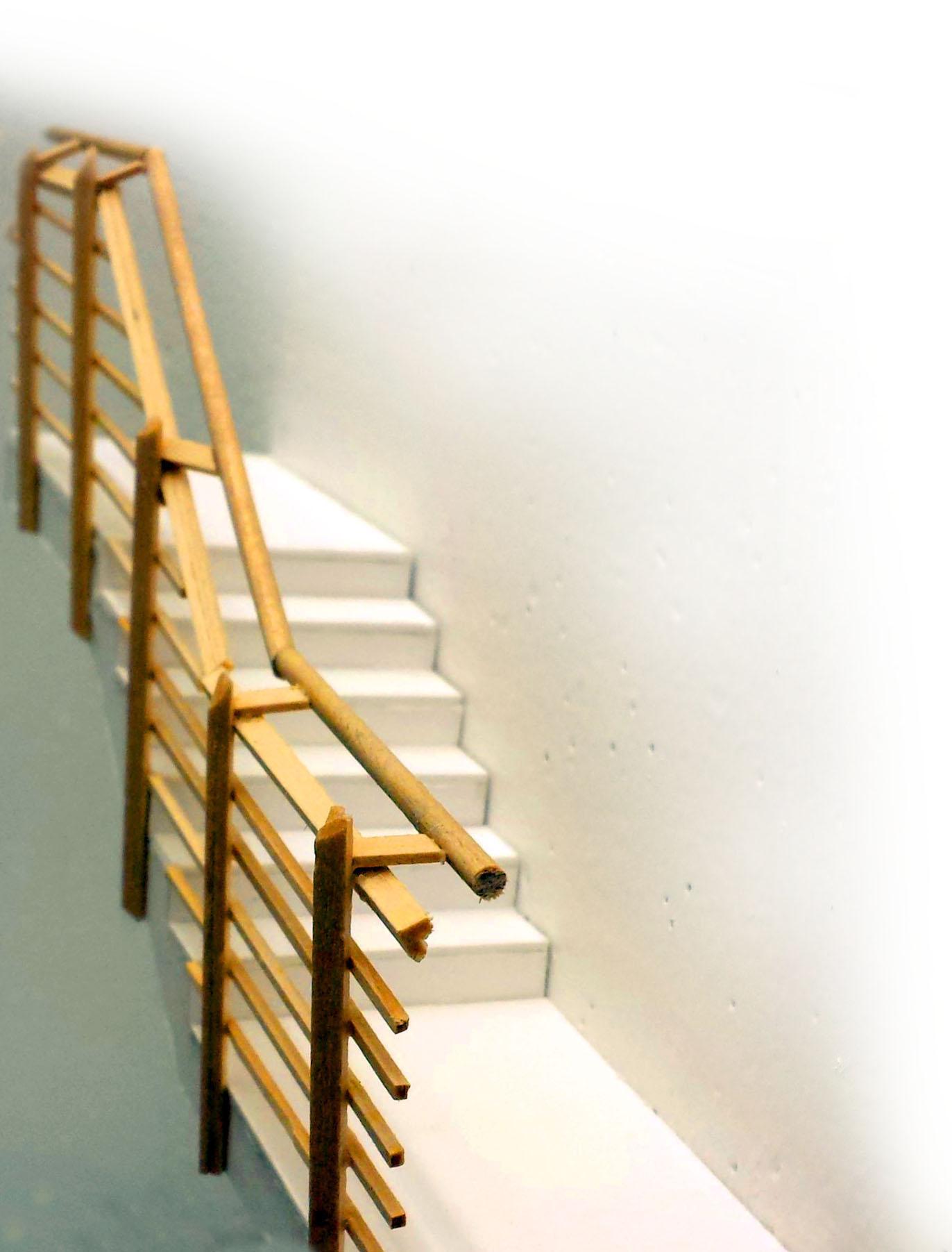 1:10 stair detail model