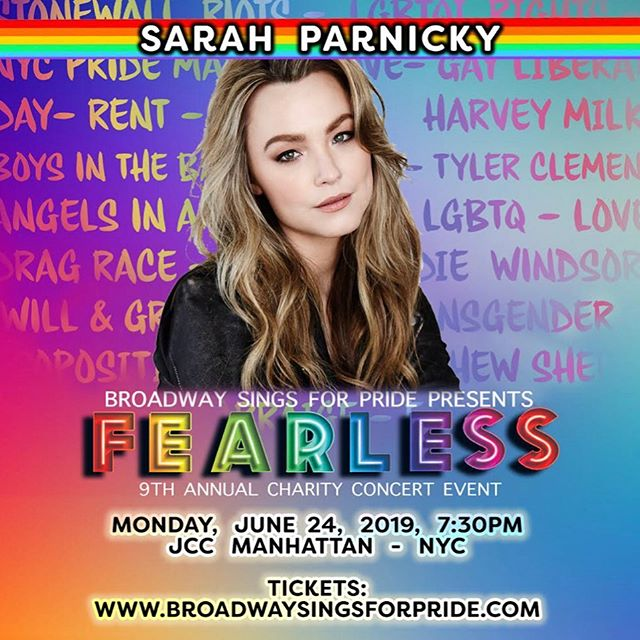 I have a few donation based tickets for tomorrow's benefit - DM me for details! ❤️🧡💛💚💙💜 #pride #broadway