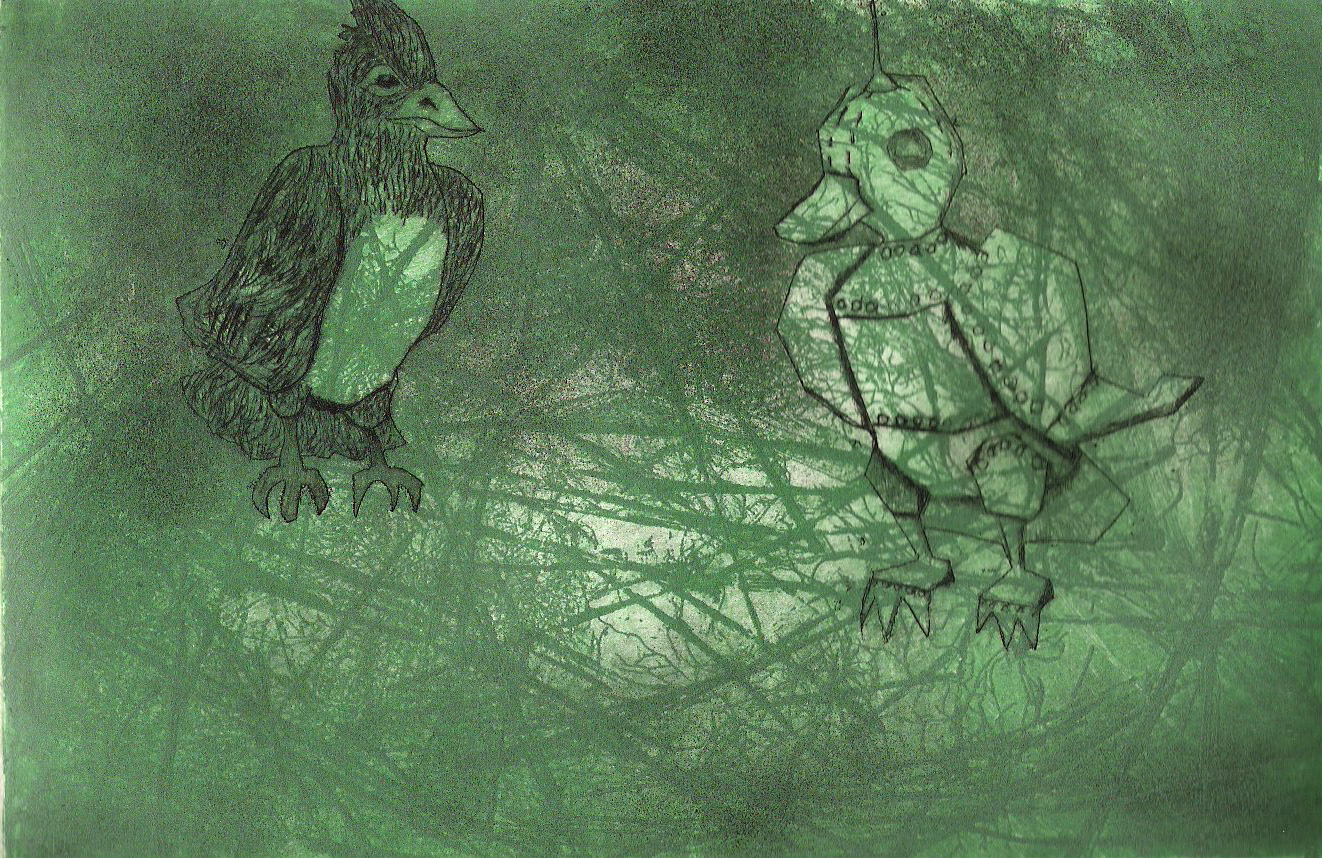 Soft Ground Transfer, Aquatint, & Drypoint