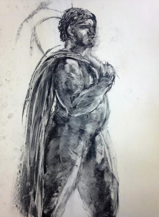 "Figure Drawing    Charcoal   24"" x 18"""