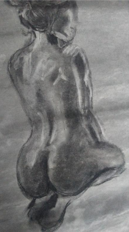 "Value Gesture Drawing Charcoal            24"" x  18"""