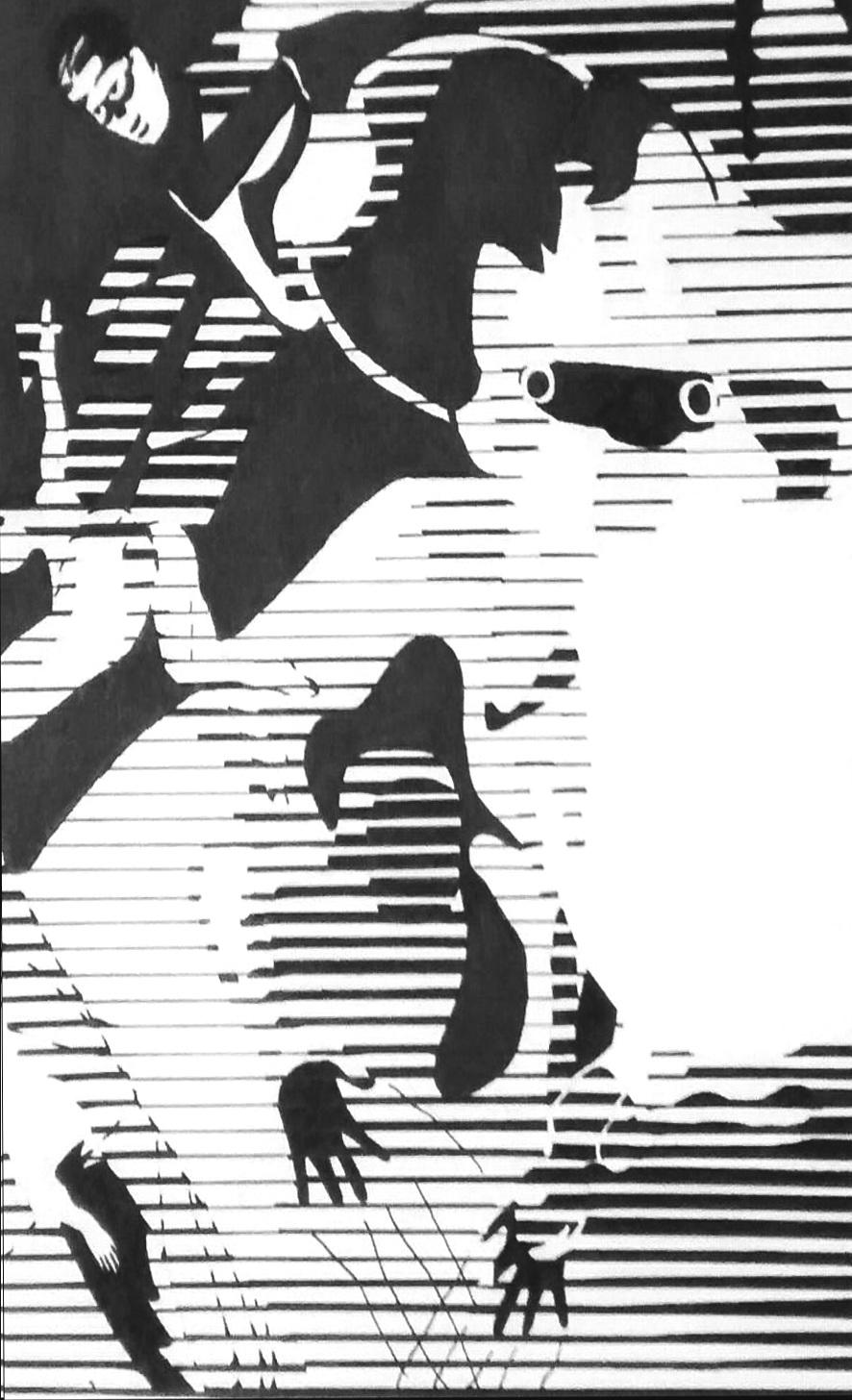 """Value, Line Design, Collage    14"""" x 11"""""""